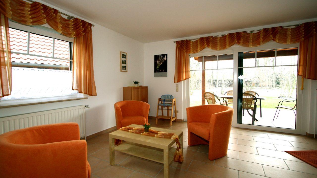 Ferienwohnung Sommergold Wohnzimmer