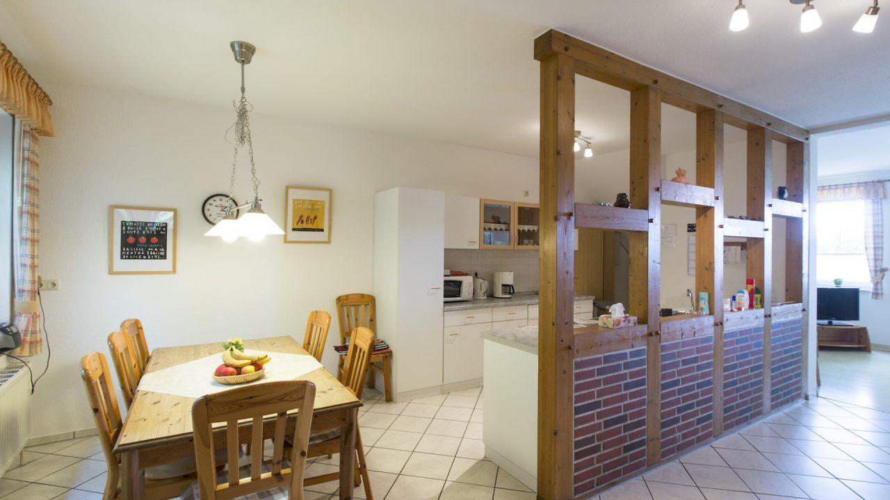 Ferienwohnung Fuchsbau Küche und Essbereich
