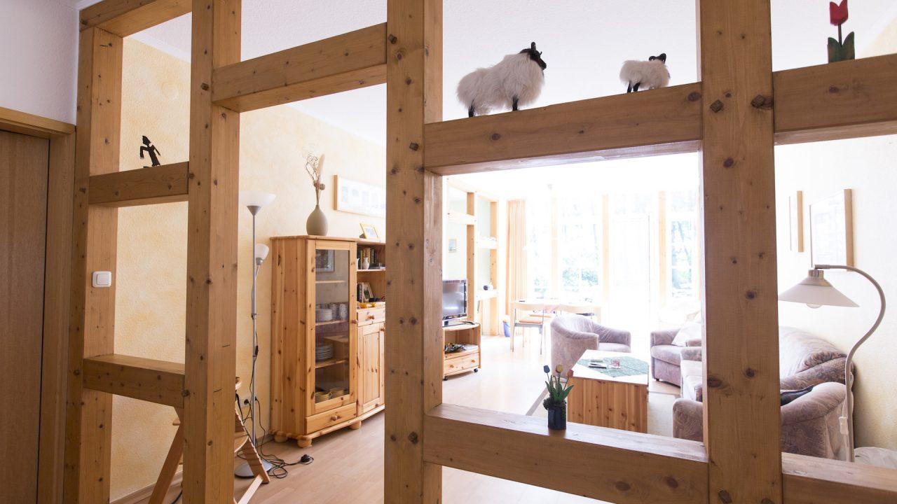 Ferienwohnung Waldesruh Blick ins Wohnzimmer