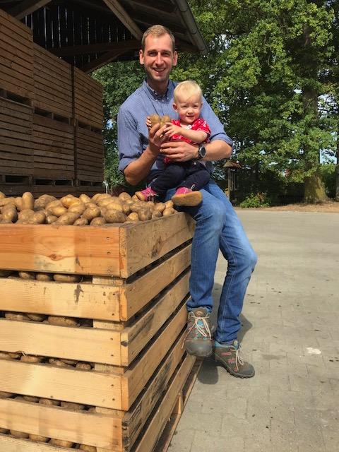 Erntefrische Kartoffeln aus der Region